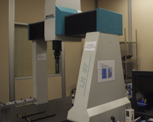 coordinate measuring machine in cnc department for machined parts