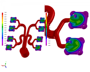 3D flow simulation software for die casting part an example of Computer Aided Engineering