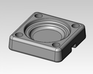 die cast part design from engineering drawing using solidworksCAD software