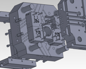die casting mold 3D dwf file shown in solidwork